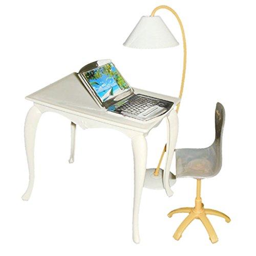 4pcs Set Lámpara Mesa Silla PC Muebles Accesorios de Oficina para Casa...