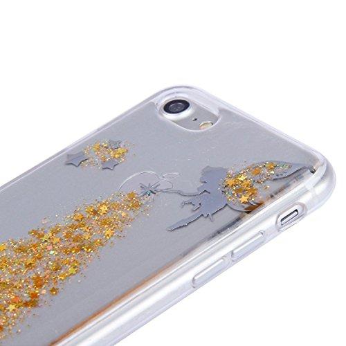 iPhone 7 Plus Silicone Case Transparen Slim,Bling Silicone Coque pour iPhone 7 Plus,Bumper Coque Housse Etui pour iPhone 7 Plus,EMAXELERS iPhone 7 Plus Coque Cristall Silicone TPU Case Slim Cover,iPho Angel Girl 3