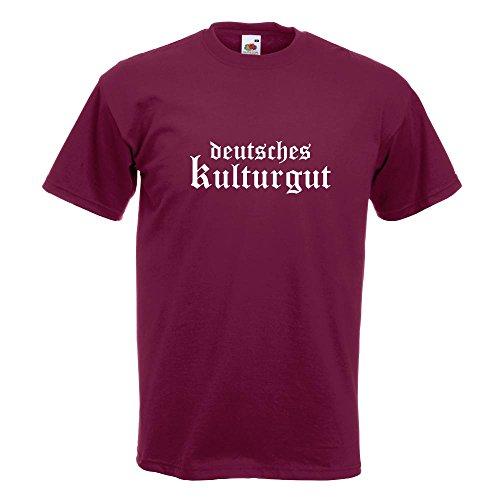 KIWISTAR - Deutsches Kulturgut Altdeutsch T-Shirt in 15 verschiedenen Farben - Herren Funshirt bedruckt Design Sprüche Spruch Motive Oberteil Baumwolle Print Größe S M L XL XXL Burgund
