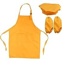 OUNONA Juego de chef para niños Delantal para niños Sombrero y mangas de cocina Juego de