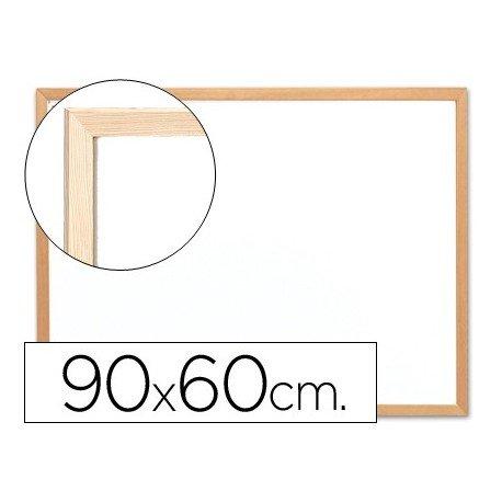 Q-Connect Pizarra Blanco Laminada Marco De Madera 90 x 60 Cm