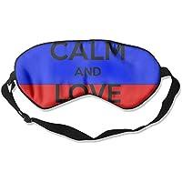 Eye Mask Eyeshade Keep Calm Words Sleep Mask Blindfold Eyepatch Adjustable Head Strap preisvergleich bei billige-tabletten.eu