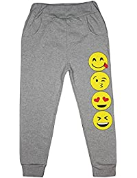 Pantalones de chándal con estampado de emoticonos para niñas de deporte para niños
