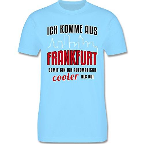 Städte - Ich komme aus Frankfurt - Herren Premium T-Shirt Hellblau