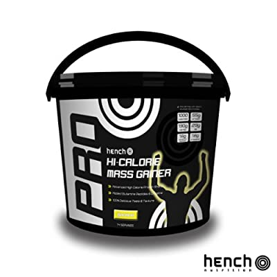 2.25kg Hench Nutrition Pro Hi-calorie Mass Gainer / Weight Gain Whey Protein Powder - Banana by Hench Nutrition