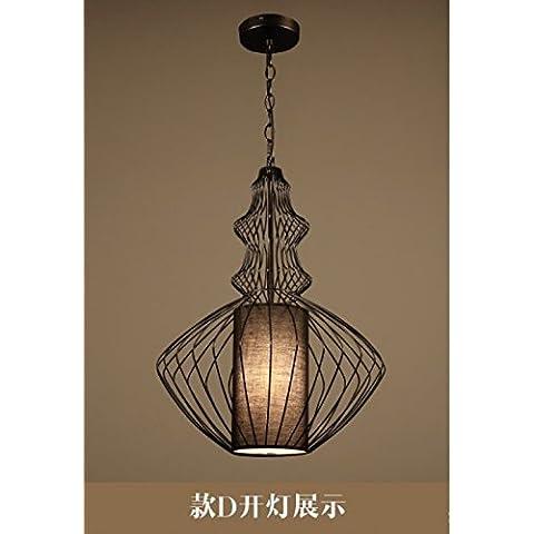 Ferro battuto bird cage semplice illuminazione