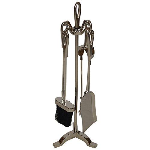 Wovenhill Home Storage Schwarz & Nickel 5Stück Kaminbesteck-Set/LOG Brenner/Kamin Werkzeug Set (Trunk Lagerung Box)