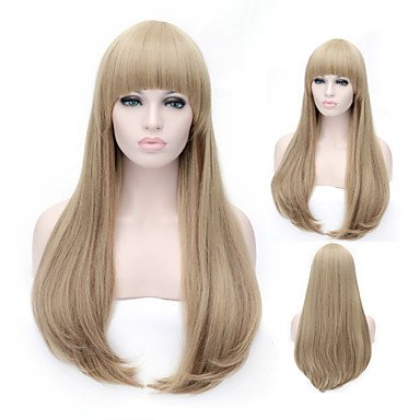 Europe and The Model of High Product Quality Is The Young Girl Will Prepare Wig , blonde