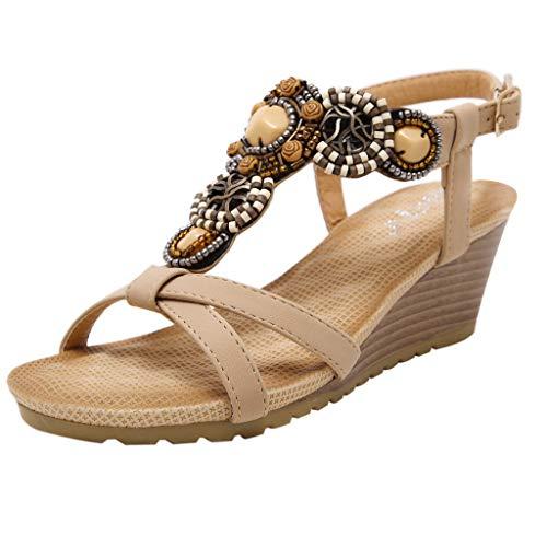Sandalias Mujer Verano 2019, Zapatos Bohemios con Cuentas de...