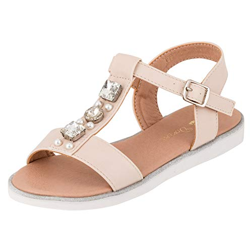 ndalen Sandaletten Kinder Schuhe in Glitzeroptik M553cr Creme 25 EU ()