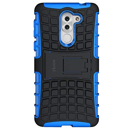ykooe Coque Honor 6X, Bouclier Série Smartphone Etui Housse Anti-Slip Honor 6X Coque de Protection en TPU avec Absorption de Choc Béquille et Anti-Scratch