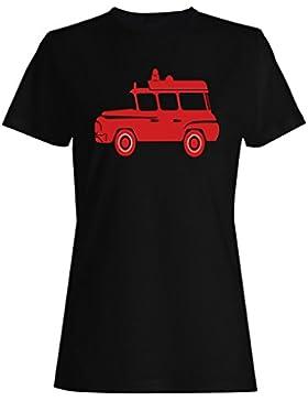 Ambulancia Roja camiseta de las mujeres n760f