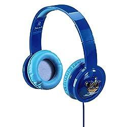 Hama Kinderkopfhörer Over-Ear Blink'n Kids (Lautstärkebegrenzung 85dB, Kopfhörer für Kinder, faltbar, verstellbar, Blinkeffekt mit LED-Licht, 1,2 m Kabel Leicht-Kopfhörer für Jungen ab 4 Jahre) blau