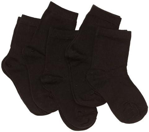 PEX Short School Award 5 Pairs Boy's Socks Black 9 To 12