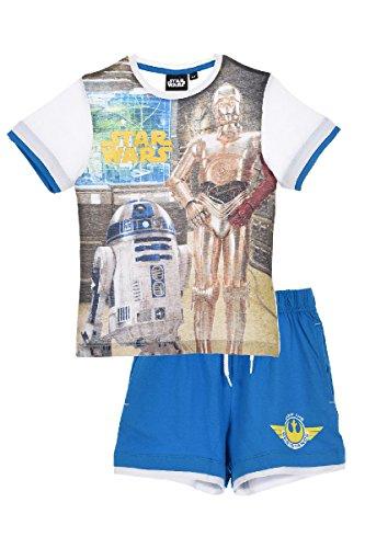 Star Wars Jungen Bekleidungsset Robots, Weiß (White Optic White), 6 Jahre