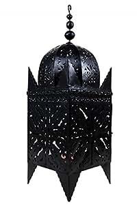 orientalische laterne aus metall schwarz frane 120cm gro marokkanische gartenlaterne f r. Black Bedroom Furniture Sets. Home Design Ideas