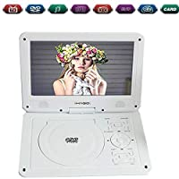 Portable DVD PlayerAnd 10.1 Inch Swivel Screen, Support Multi-Format, Long Lasting Battery, Support Movie/SD/Photos/Radio/USB/Game For Kids