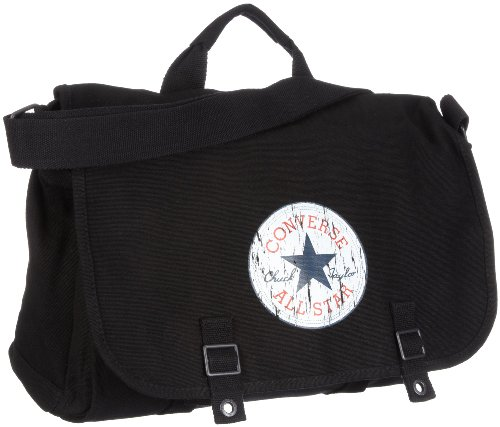 Converse Shoulder Bag Vintage Patch Canvas, black, 38 x 13,5 x 27 cm, 98306A-30