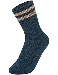 EOZY Women's Vintage Style Winter Thick Knit Warm Casual Wool Socks
