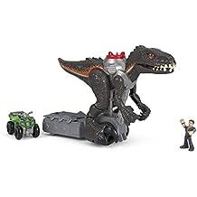 Imaginext Jurassic World, Indorraptor perseguidor, dinosaurio de juguete para niños +3 años (