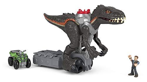 Imaginext Jurassic World, Indorraptor perseguidor, dinosaurio de juguete para niños +3 años  (Mattel FMX86)