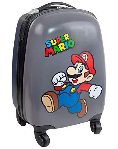 fadfe9e96 Super Mario Kids Hard Cover Carry On Trolley Suitcase 35x26x20cm