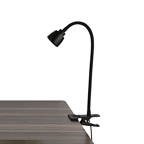 Lanfu Leselampe Clip auf 1 * 3W 3000K LED Tisch Schreibtisch Lampe Faltbare Bedside Flexible einstellbare Helle Augenpflege Schwanenhals Arbeitslicht, Task Light, Schwarz