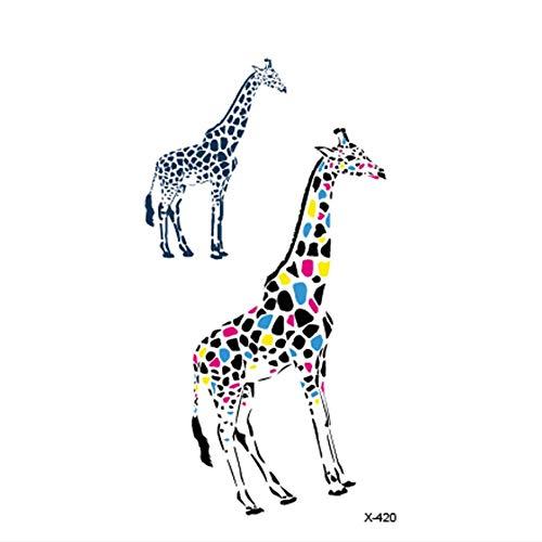 ruofengpuzi Farbe Giraffe Erwachsene Tätowierung Wasserdicht Tattoo Sticker Body Art Fake Tattoo Mann Frau