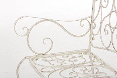 CLP Metall Gartenbank TUAN, 2-er Sitz-Bank Garten, Eisen lackiert, Design nostalgisch antik, 105 x 50 cm Antik Creme - 6