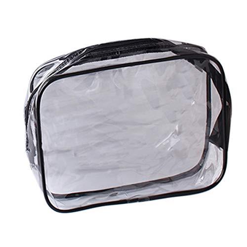 Noradtjcca Tragbare Größe Transparent PVC Frauen Make-Up Kosmetiktaschen wasserdichte Reise Verwendung Schönheit Kulturbeutel Organizer