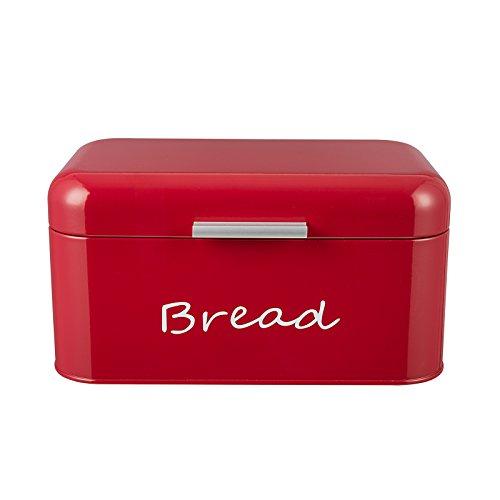 GranRosi Brotkasten - kompakte Metall Brotbox zur Brotaufbewahrung im 40er Jahre Retro Design