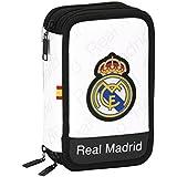 Real Madrid - Plumier triple, 13 x 20 x 6 cm (Safta 411557057)