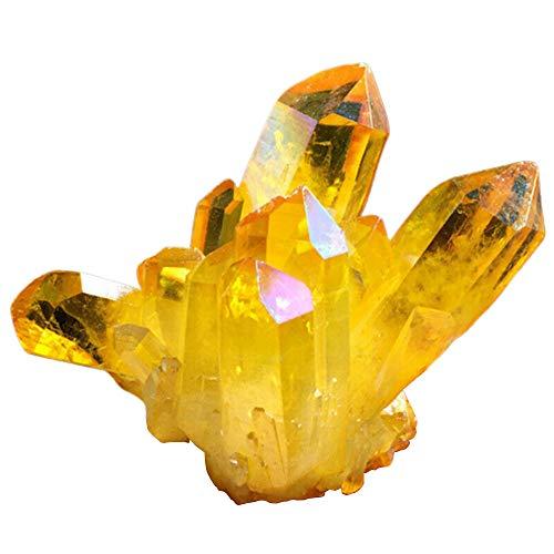 Diyarts cluster di cristallo citrino naturale guarigione reiki esemplare fortunato pietra preziosa decorazione cluster di quarzo feng shui per la casa ristorante yoga ufficio decor