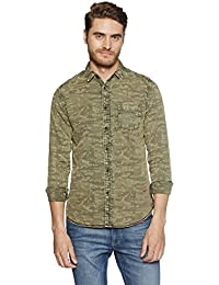 Jack & Jones Men's Printed Slim Fit Cotton Casual Shirt