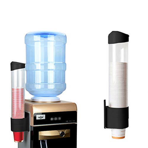 nder Wandhalterung für biologisch abbaubare Kunststoff Papier Kegel Tassen Zuhause Büro Schule (Schwarz, L) ()