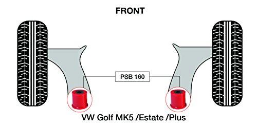 PSB polyuréthane Bush Golf Mk5/Break/Plus avant bras de Wishbone arrière bushing kit - 2003-2009 (Psb160)