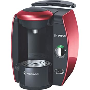 Bosch TAS4013 - Cafetera multibebidas, color negro y rojo: Amazon ...