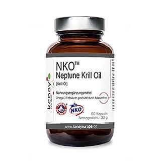 NKO   Neptune Krill Oil   (Krill Öl) 500mg 60 Kapseln   KENAY EUROPE