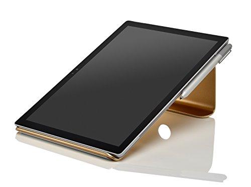 Mac 163 (STANDWERT Notebook Halterung Laptopständer für MacBook / MacBook Pro - aus Aluminium - gold)