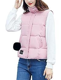 LENFESH Caliente Chaquetas sin Mangas chalecos Chaleco camiseta para Mujer Dama Invierno