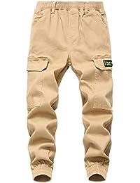 LAUSONS Pantalones Cargo para Niño - Pantalon de Jogging Niños
