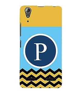 HiFi Designer Phone Back Case Cover Lenovo A6000 :: Lenovo A6000 Plus :: Lenovo A6000+ ( P Alphabet Colorful Pattern Design Mustache )