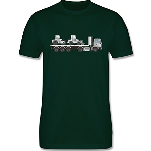 Andere Fahrzeuge - Tieflader Sattelauflieger Walze Radlader - Herren Premium T-Shirt Dunkelgrün