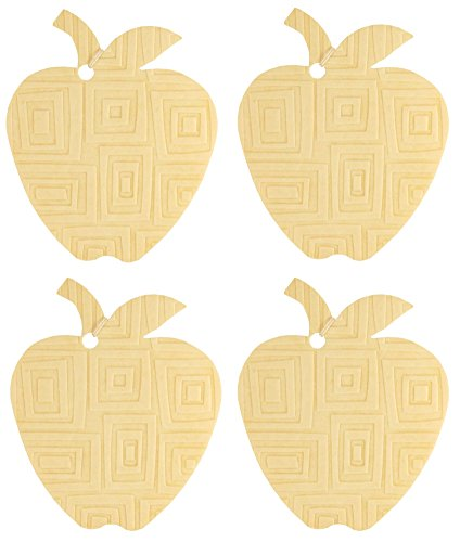 Eclectic Lady Set von vier luftverbesserer mit prägemustern warmen vanillezucker apple-mod squares