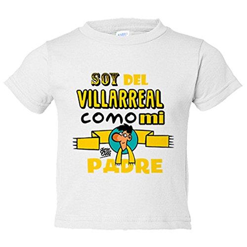Camiseta niño soy del Villarreal como mi padre Jorge Crespo Cano - Blanco, 5-6 años
