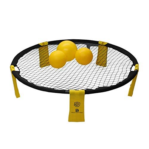 Bochamtec Strikeball 3 - Kit da Gioco con Rete per Rimbalzo aggiornata, 3 Palline, Borsa per Il Trasporto, Libro delle Righe, N9000 III