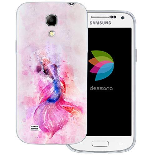dessana Exotische Fische Transparente Silikon TPU Schutzhülle 0,7mm dünne Handy Tasche Soft Case für Samsung Galaxy S4 Mini Koi Karpfen