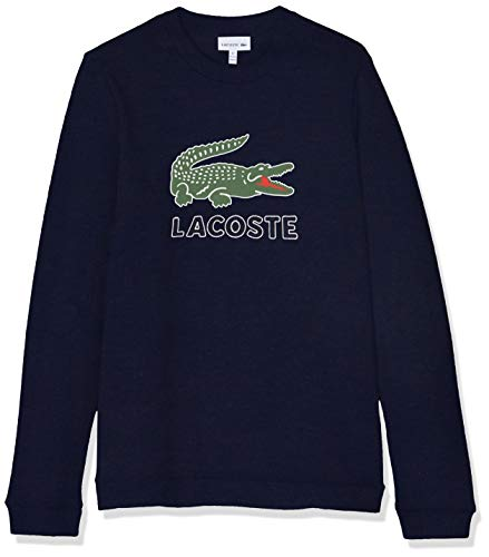 Lacoste Jungen Sj7622 Sweatshirt, Blau (Marine 166), 12 Jahre (Herstellergröße: 12A) Kinder Sweatshirt Marine