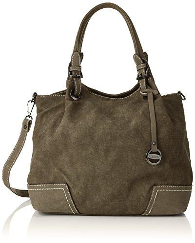 Gabor Shopper Damen Marina, Grün (Khaki), 16.5x30x34 cm, Tasche Damen - Khaki Handtasche
