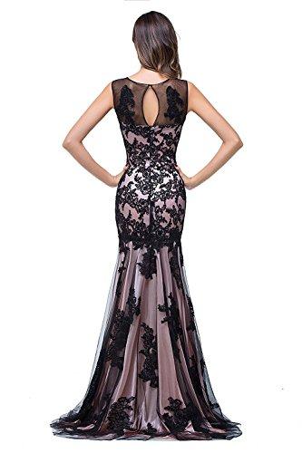 Damen Abendkleid Lang Abendkleider meerjungfrau Rosa 46